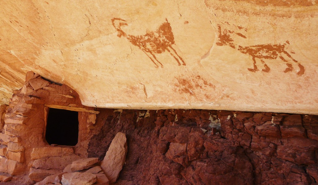 Ruins and pictographs in Slickhorn Canyon. Photo: Vaughn Hadenfeldt