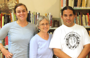 Team members Erin Gearty, Laurie Webster, and Luis Garcia
